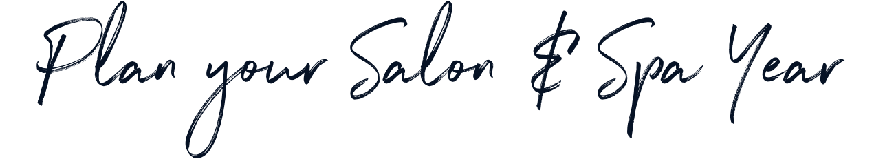 Plan your salon and spa year